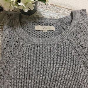 🍁 Loft blue gray long sleeved sweater